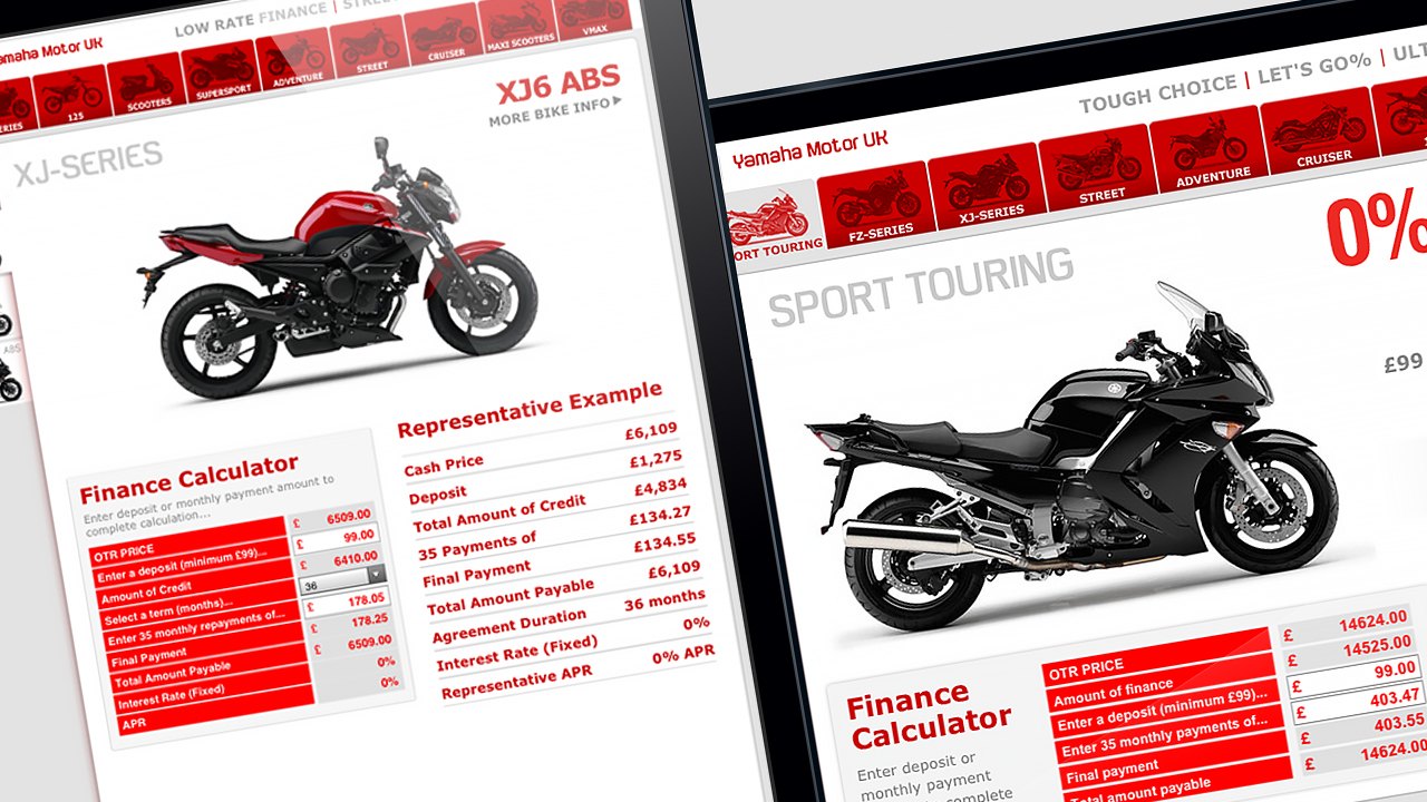 yamaha motor finance calculator